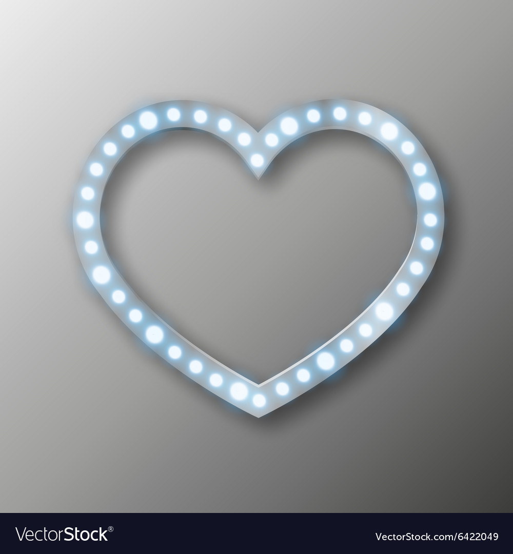 Abstract heart with lights vector