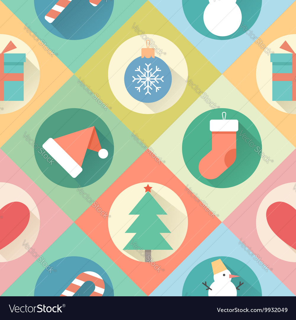 Happy new year pattern flat design style vector