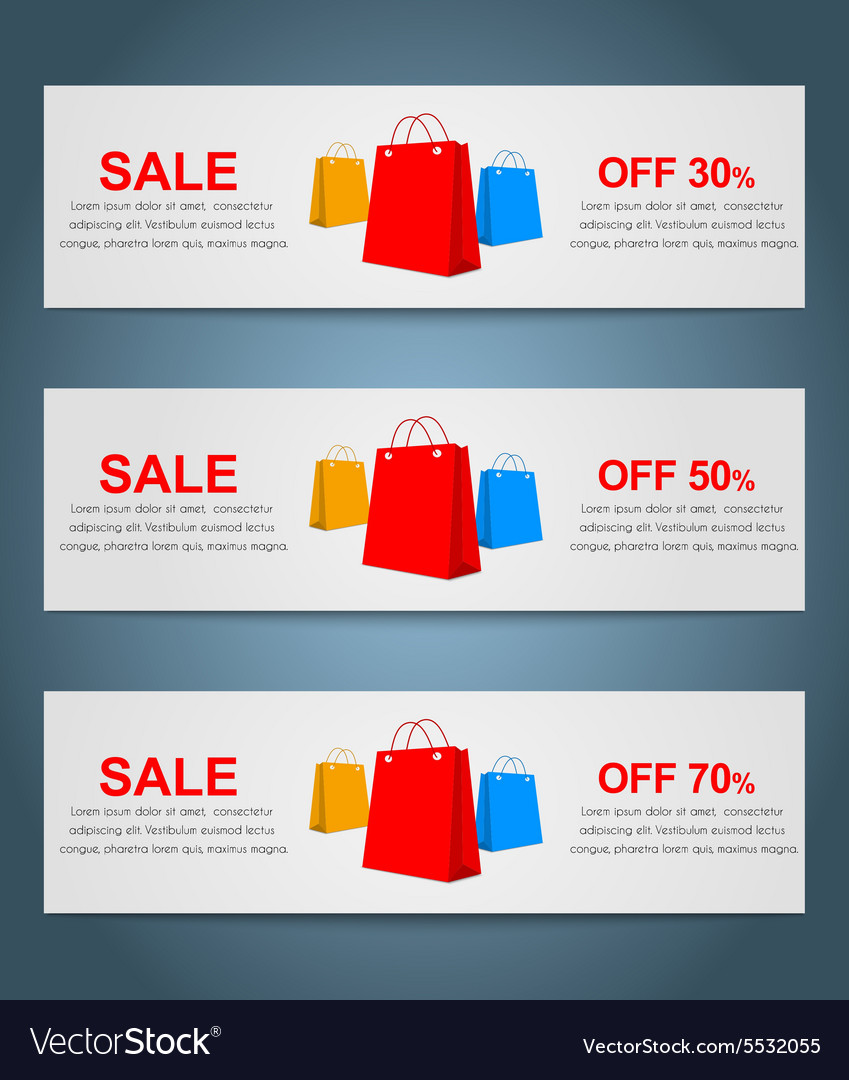 Set coupon banner vector