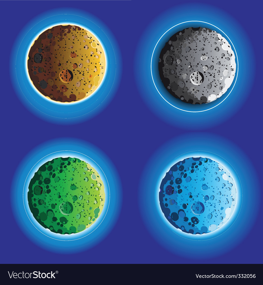 Moon surfaces vector