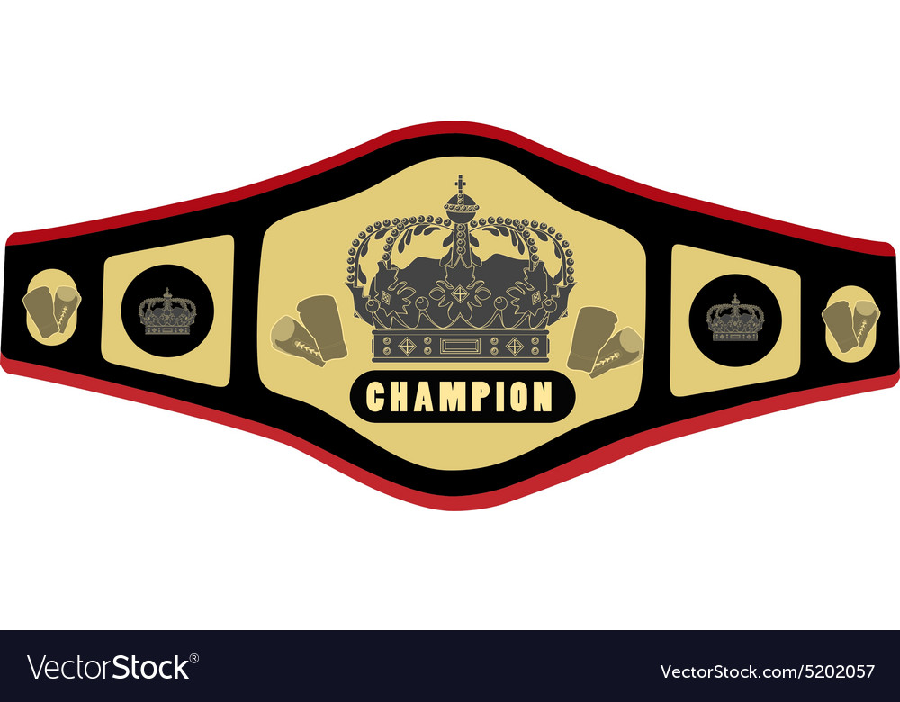 Boxing belt vector