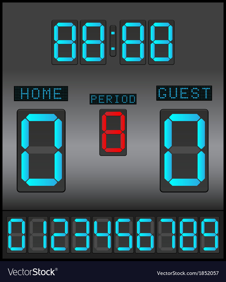 Digital scoreboard background vector
