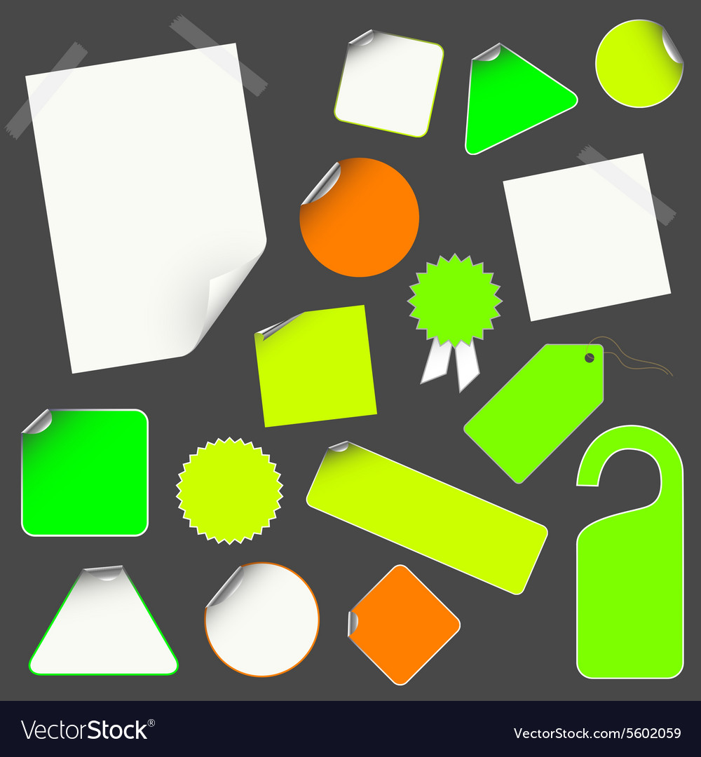 Icon stick set vector