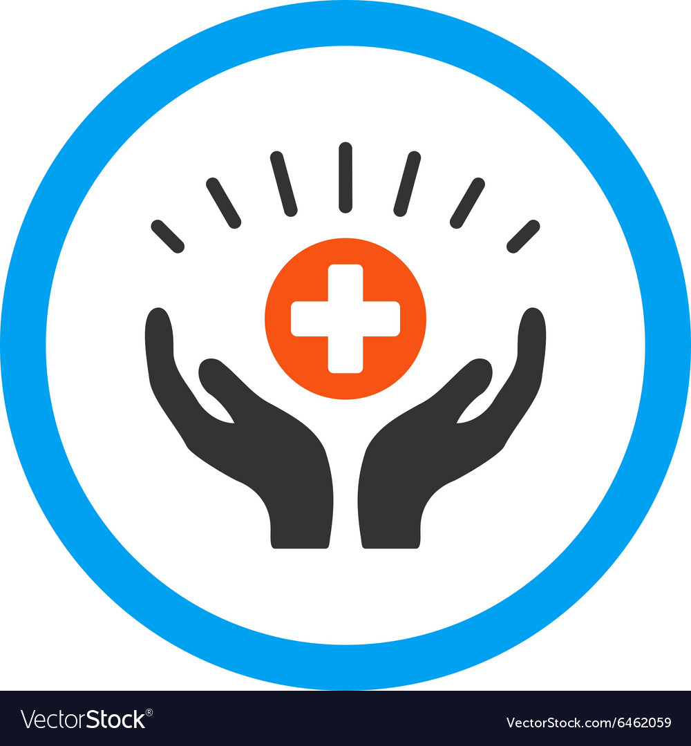 Medical support rounded icon vector