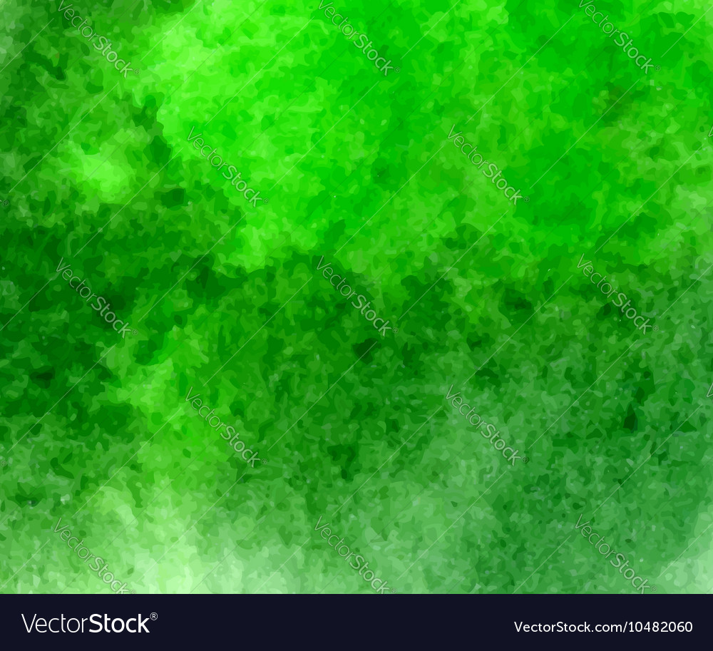 Green watercolor hand drawn stain vector