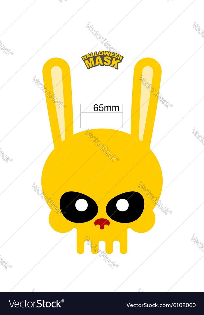 Skull hare rabbit mask for halloween vector