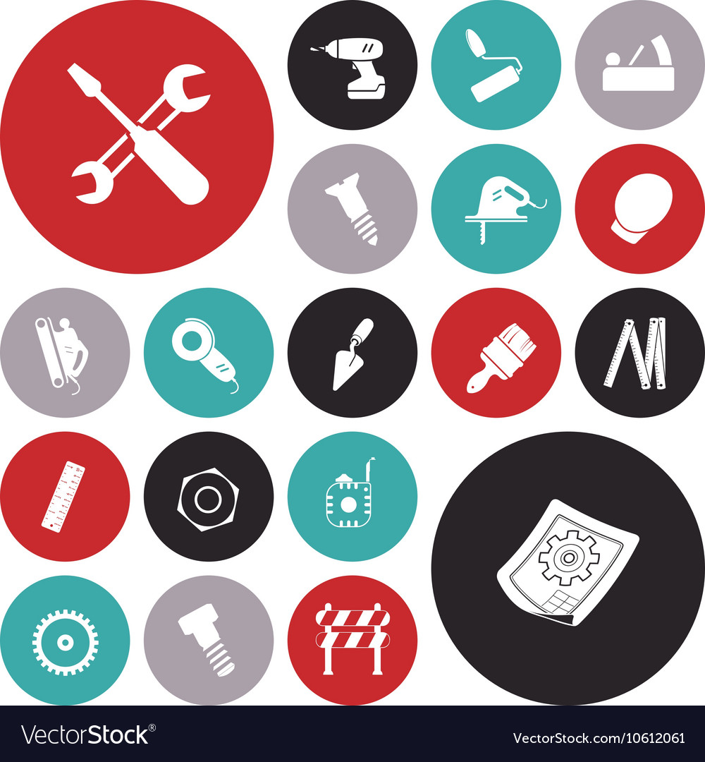 Icons for industrial vector