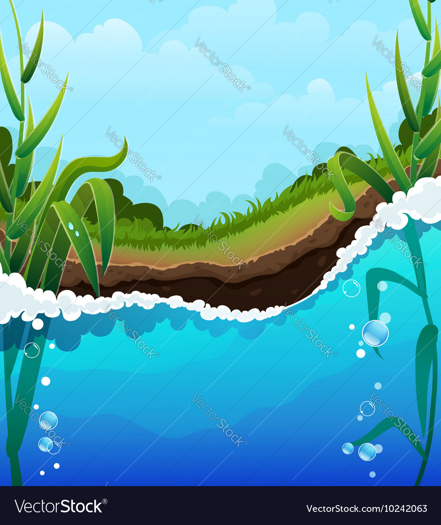 River bank vector