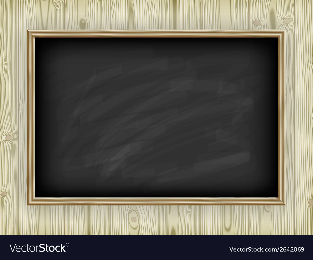 School board on wooden background vector