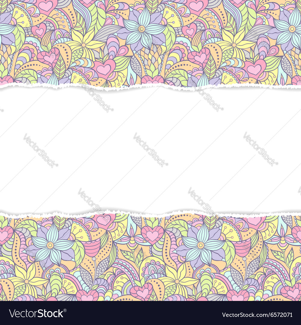 Abstract seamless pattern with torm paper vector