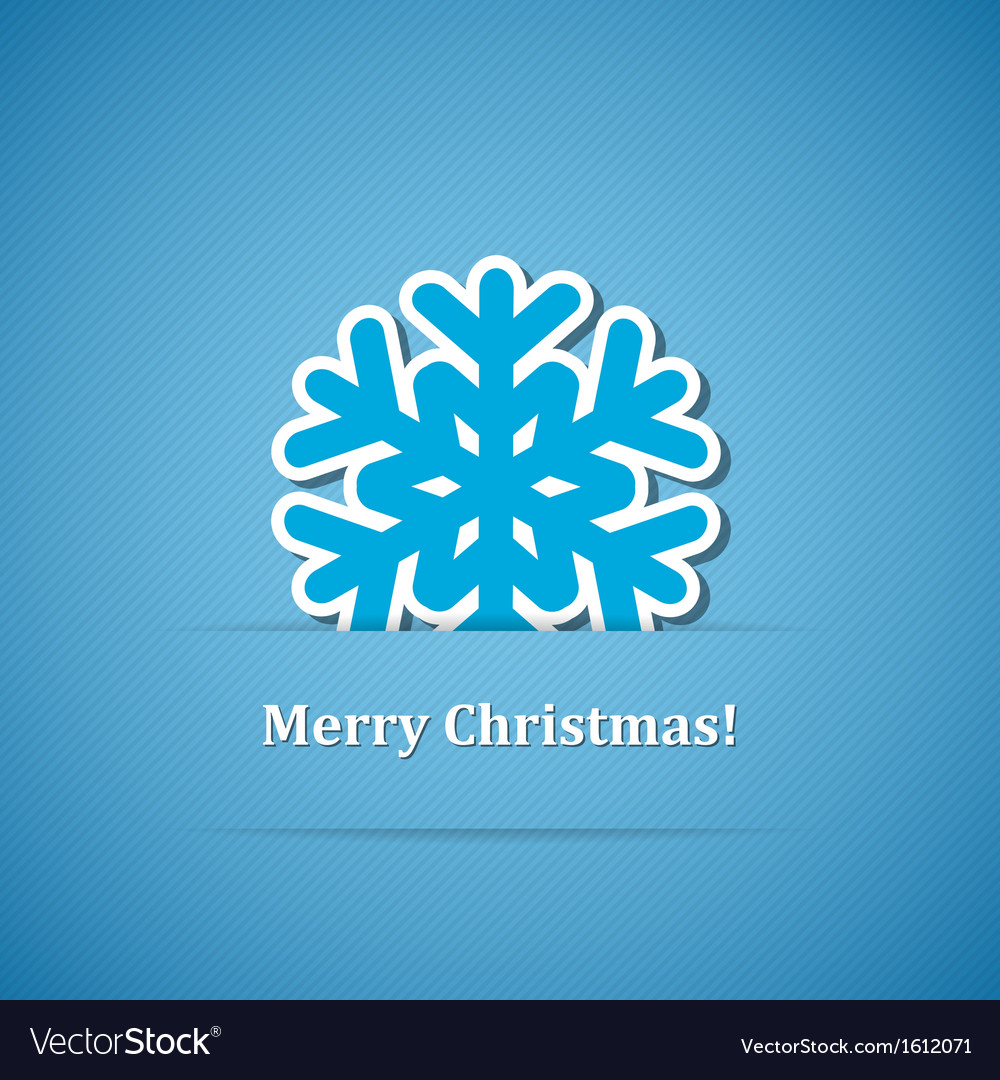 Christmas background with snowflake vector