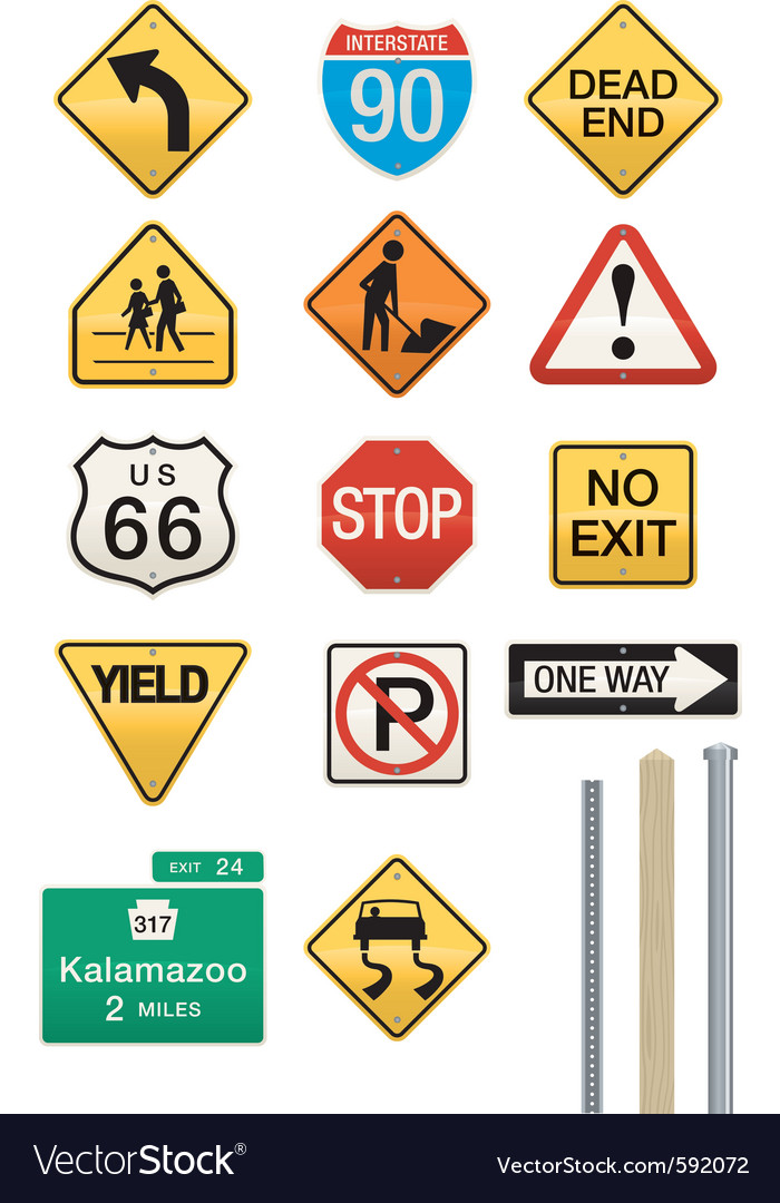 Highway signs vector