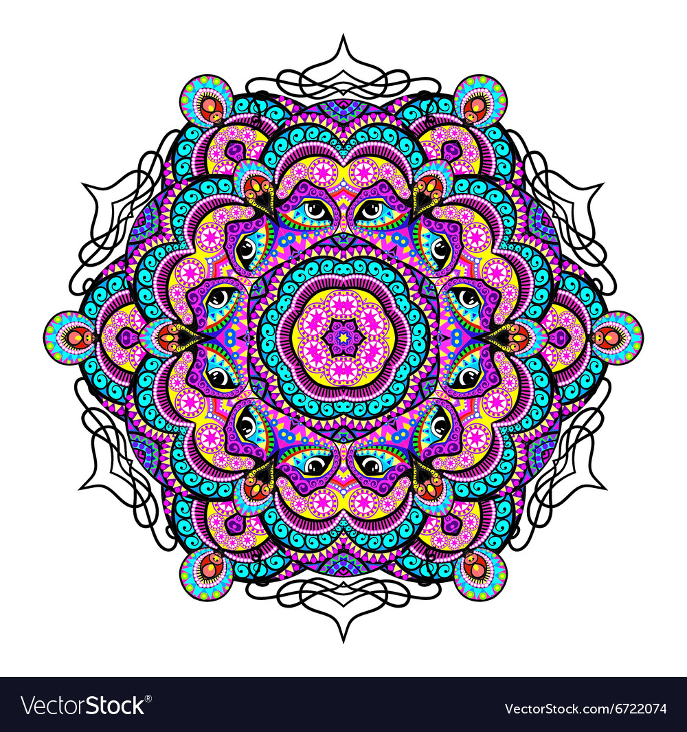 Ornament beautiful background with mandala vector