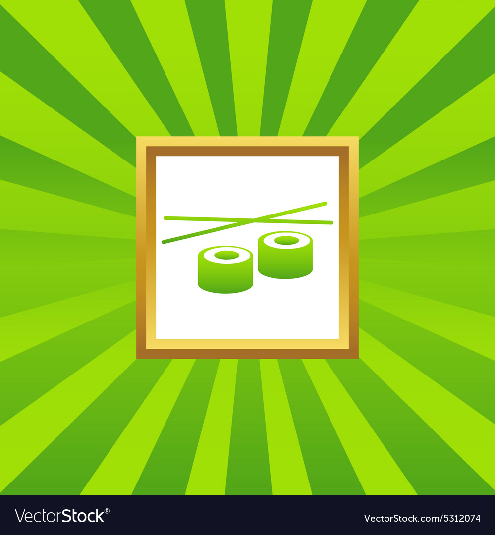Sushi picture icon vector