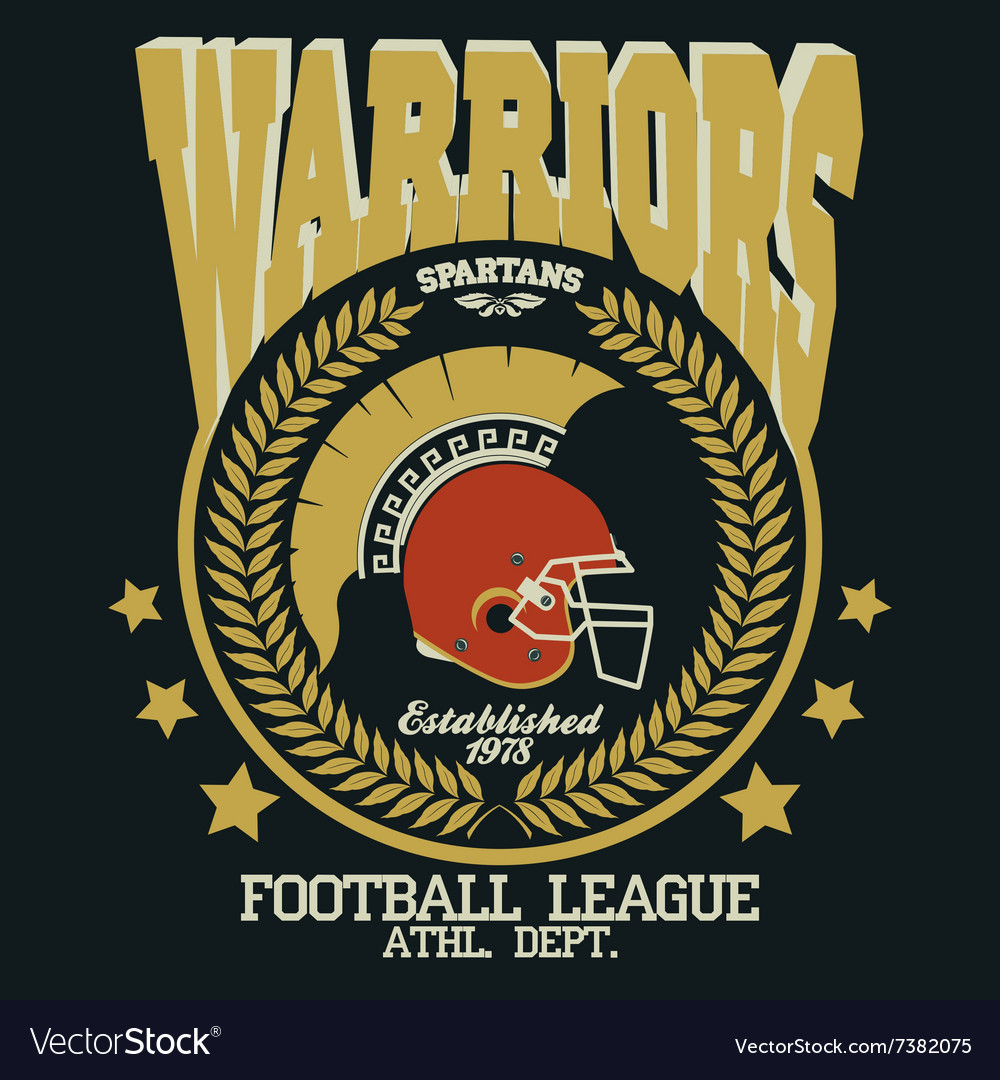 Football tshirt spartan warrior vector