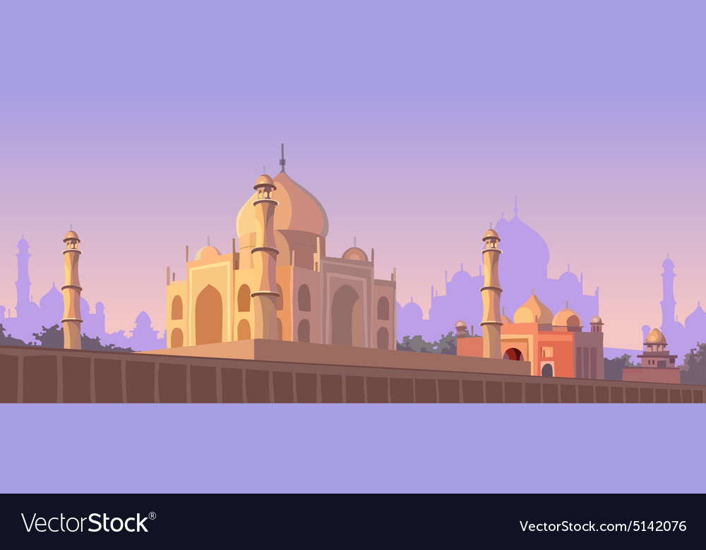 Mosque architectural structure vector