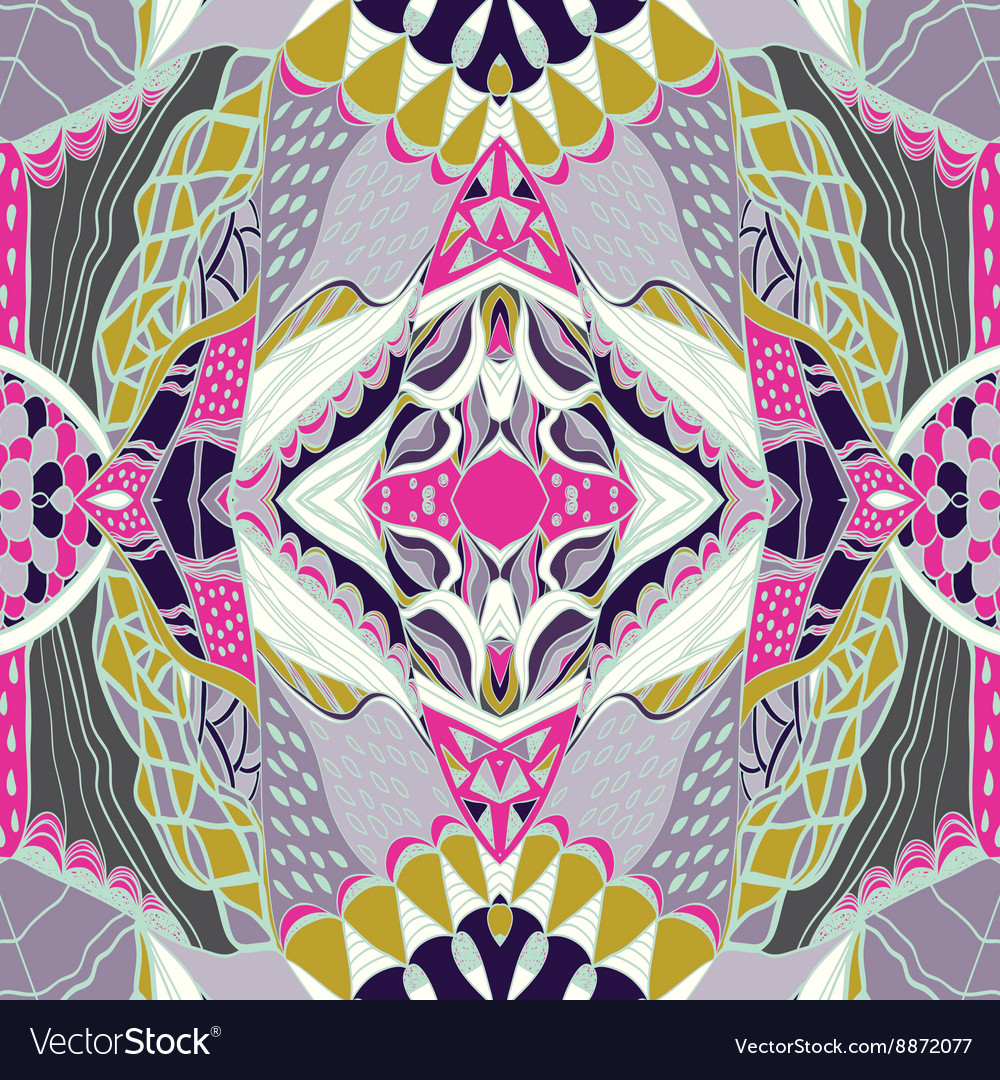 Traditional ornamental paisley bandanna pink vector