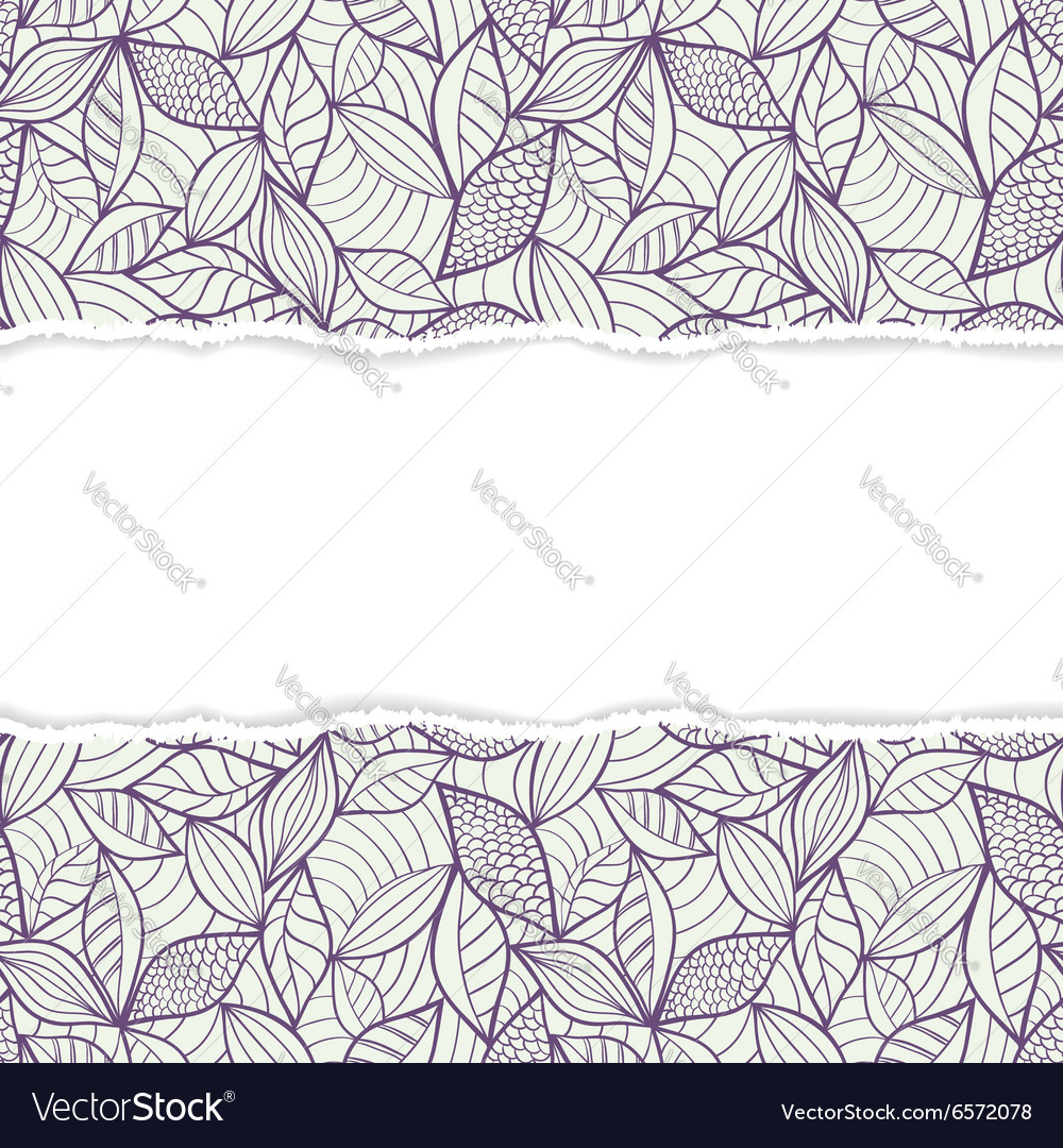 Pattern with torn paper vector