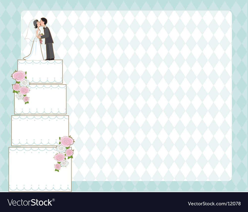 Wedding cake invite vector