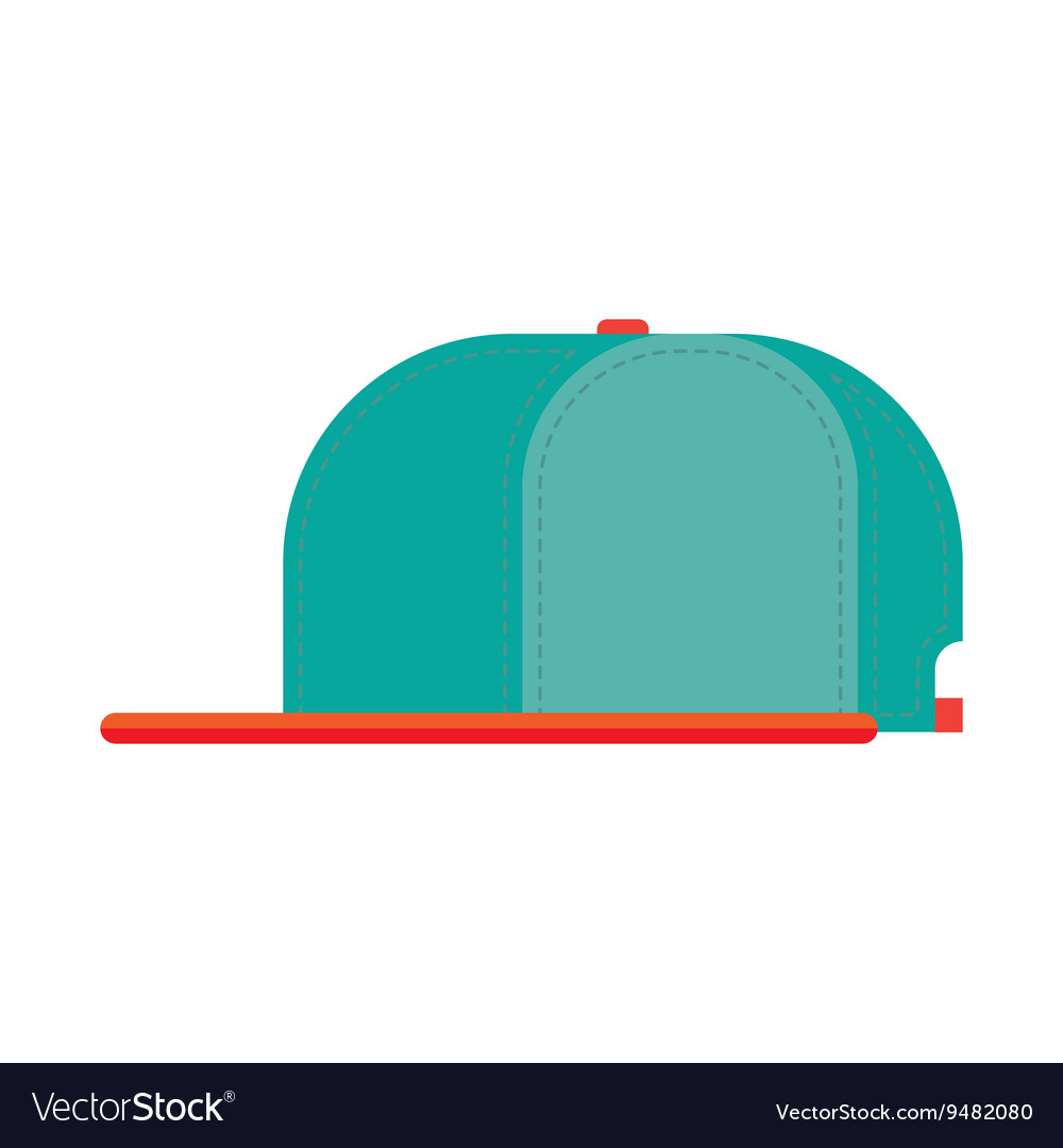 Rap cap bill baseball vector