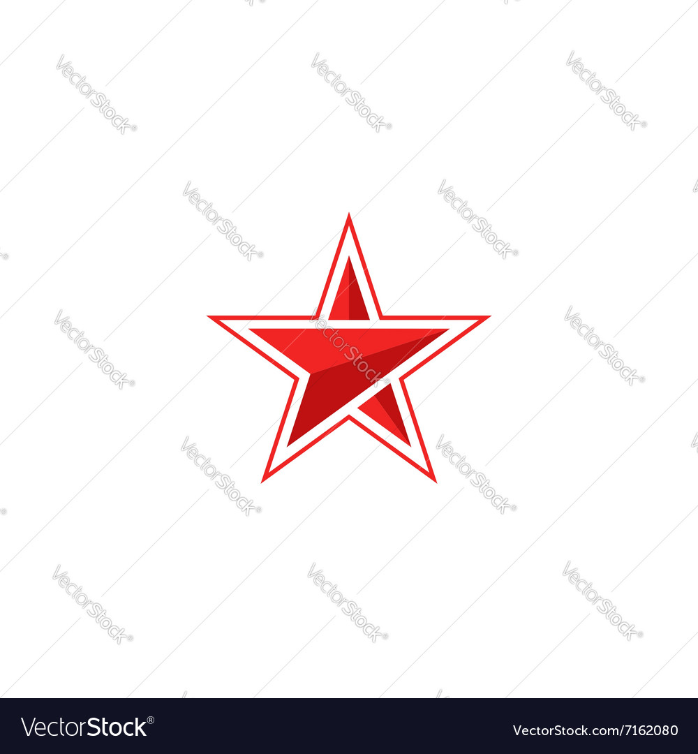 Star logo arrow mockup red silhouette modern vector