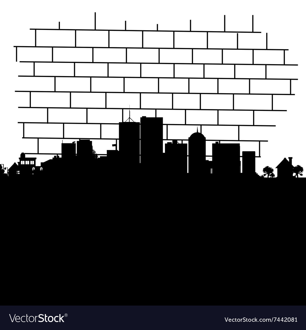 City in black vector