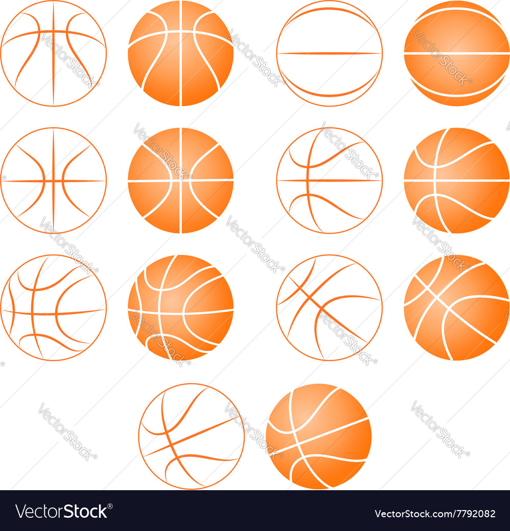 Basketball ball silhouette vector