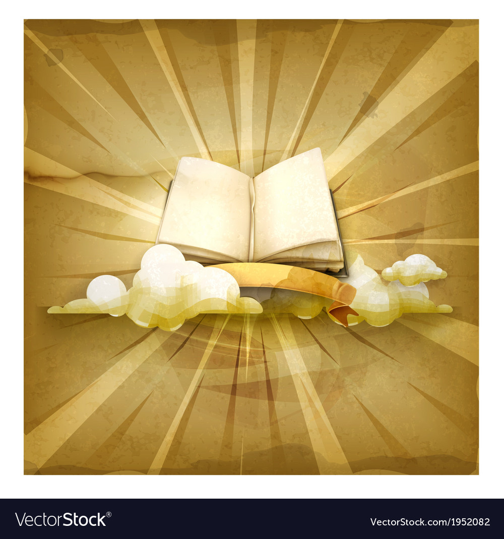 Open book old style background vector