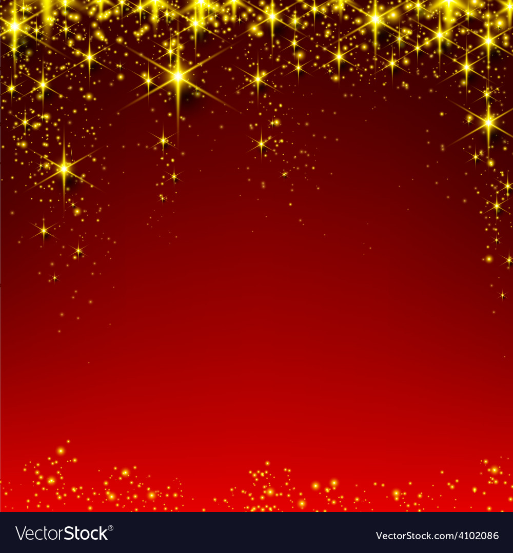 Christmas red starry background vector