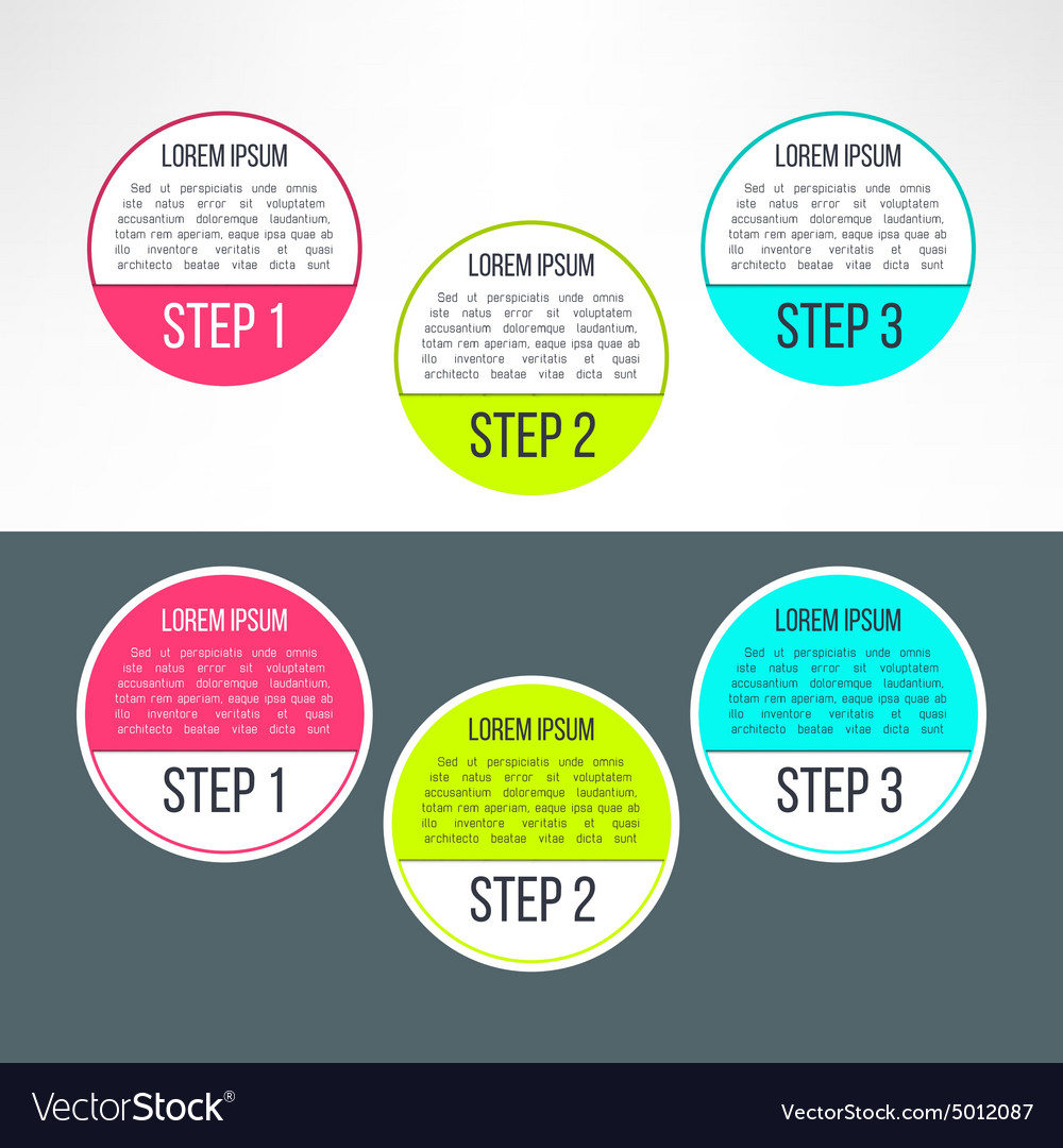Business process steps circles infographics vector