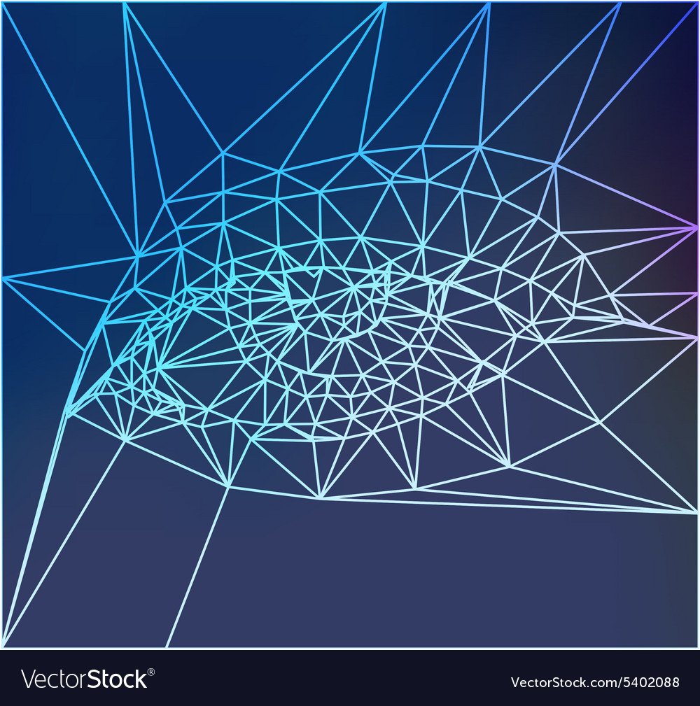 Color eye design hitech concept vector
