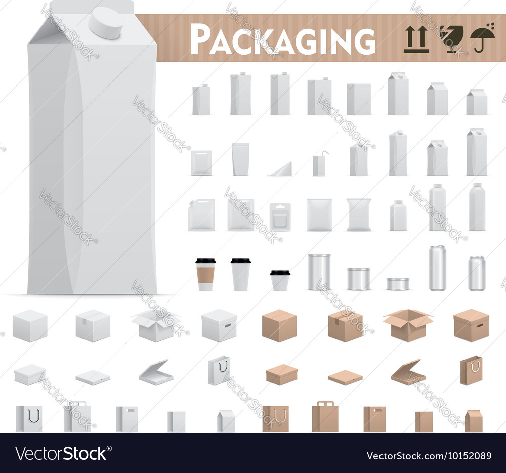 Retail packages set vector