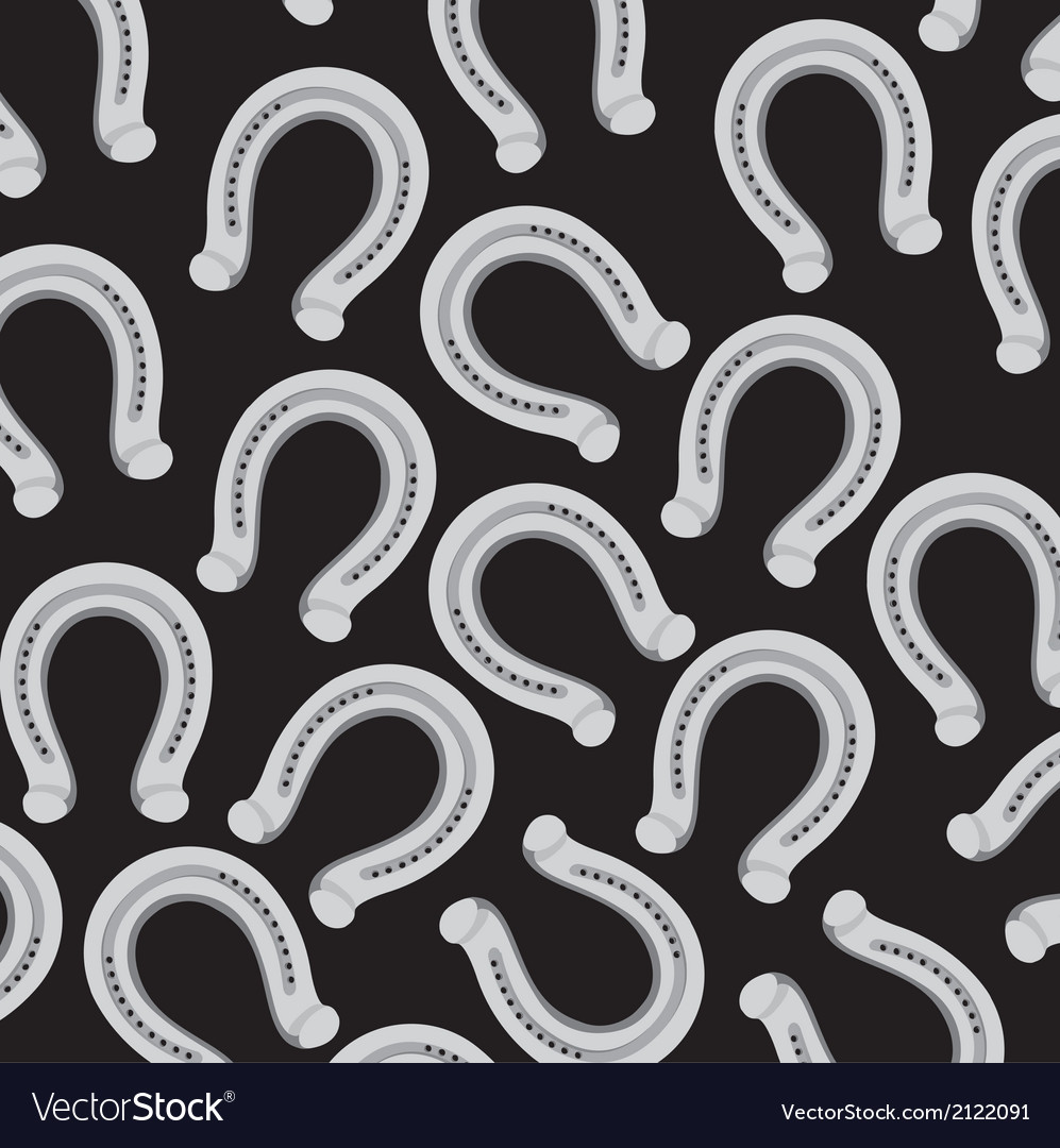 Horseshoe pattern isolated on black background vector