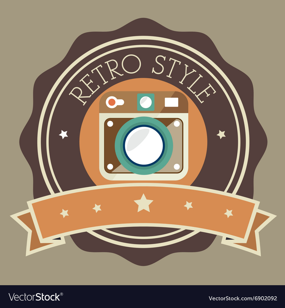 Photography and camera retrovintage design vector
