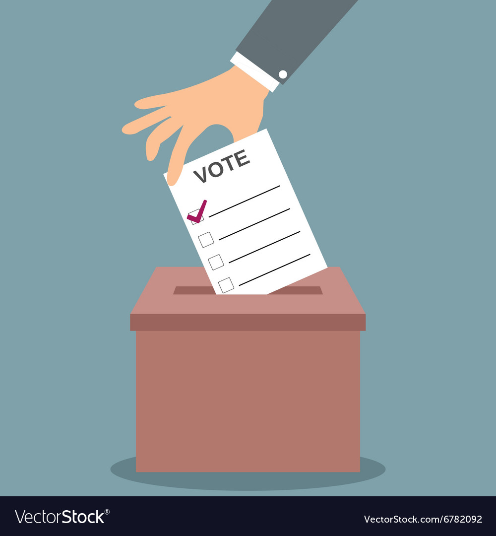 Voting concept in flat style vector