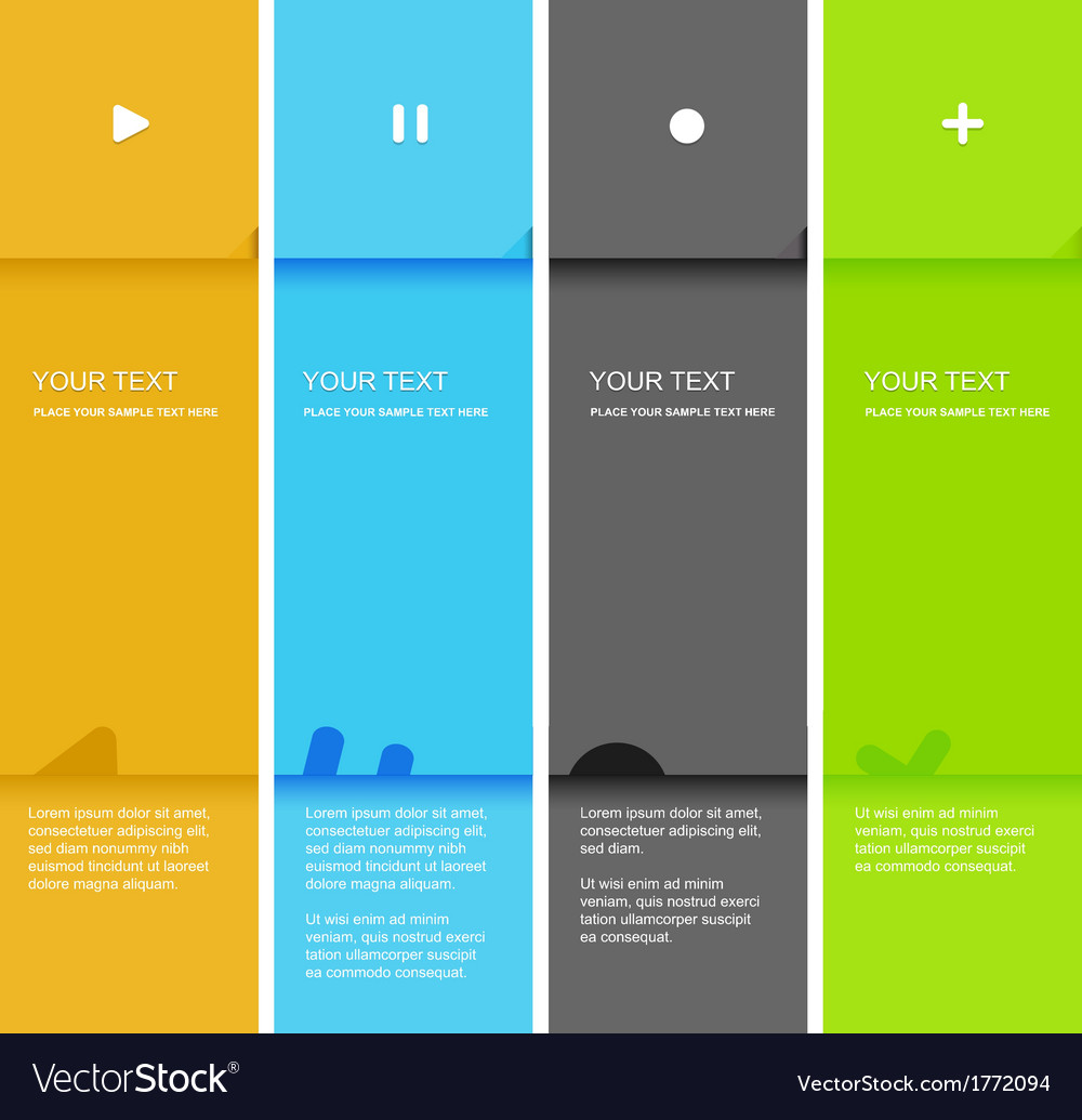 4 color flat design template  vector