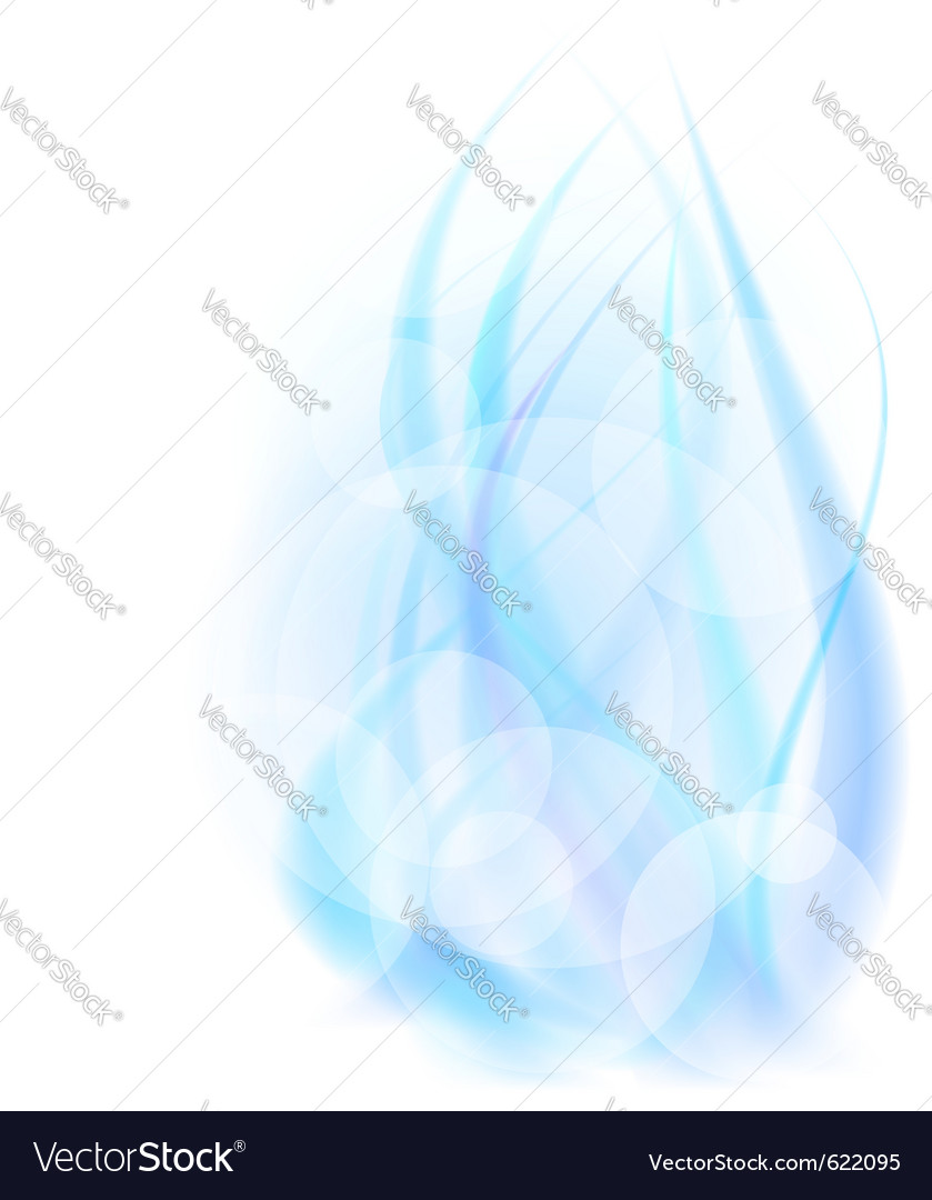 Abstract energy flame vector