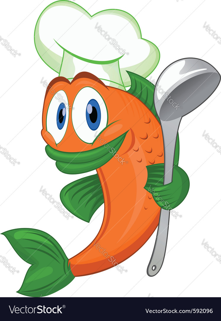 Cook fish vector