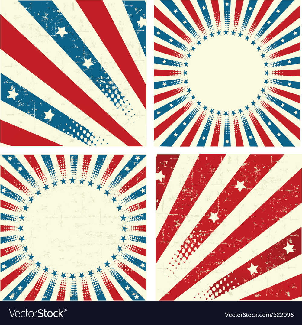 Patriotic background vector