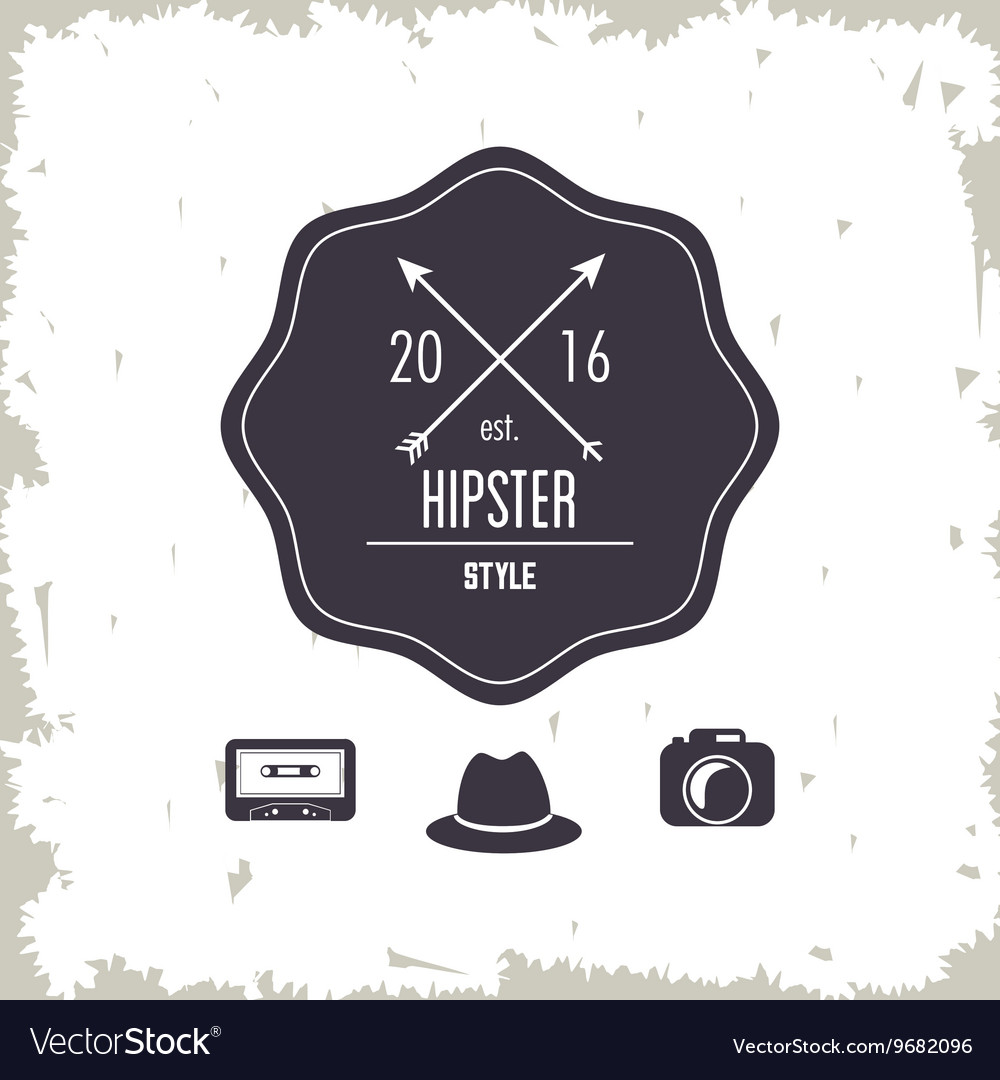 Seal stamp icon hipster style design vector