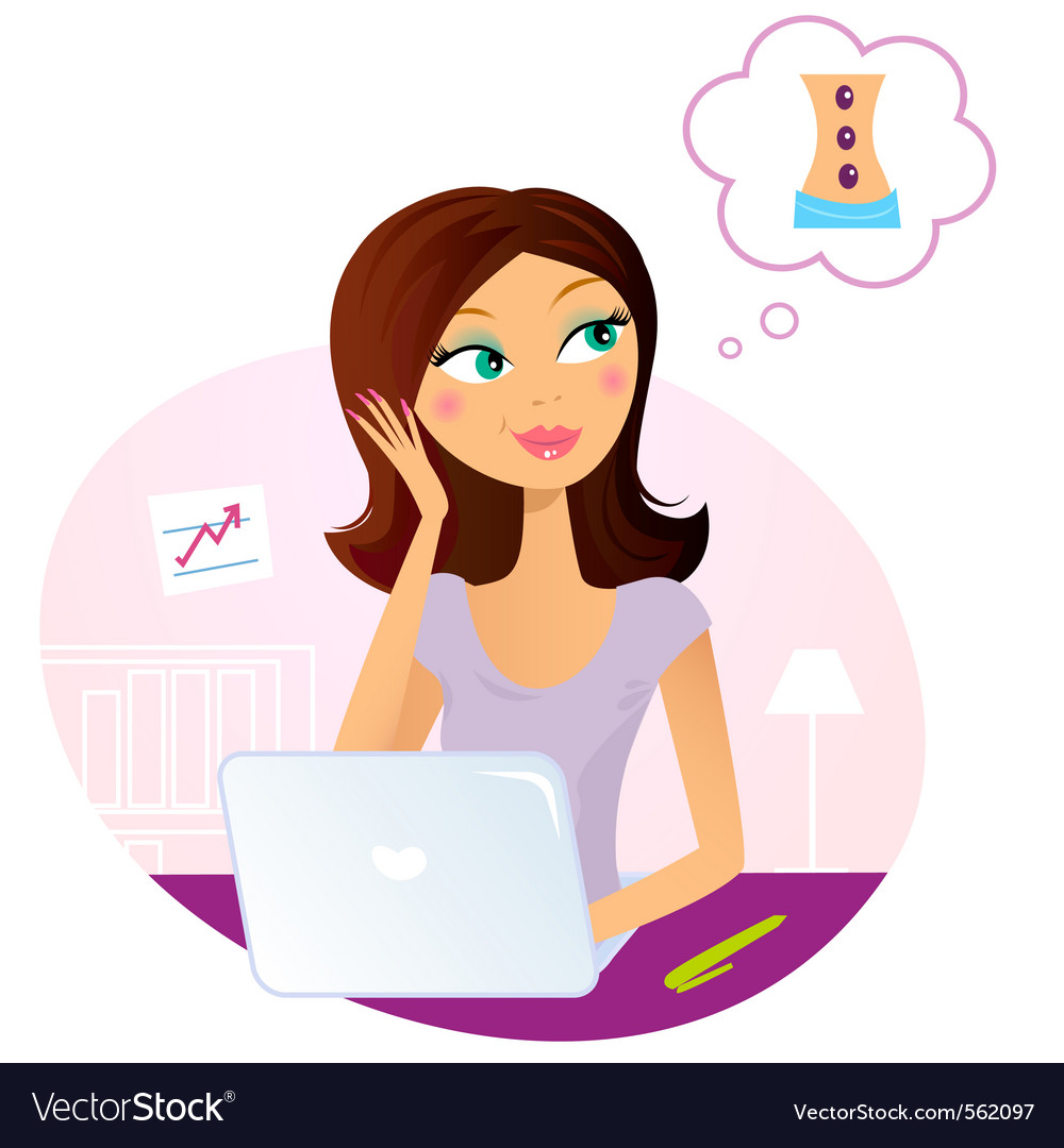Office woman vector