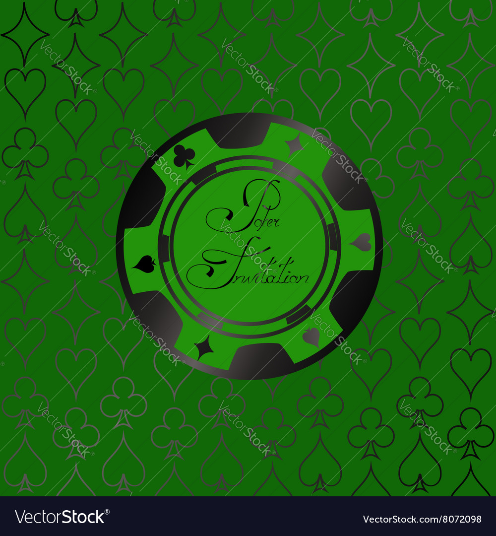 Background with casino chips vector