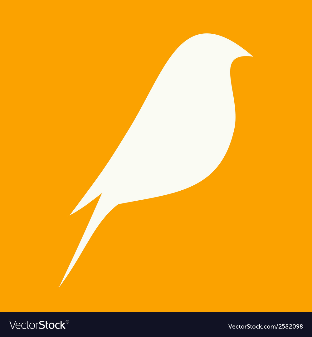 Beautiful flat silhouette of the bird vector