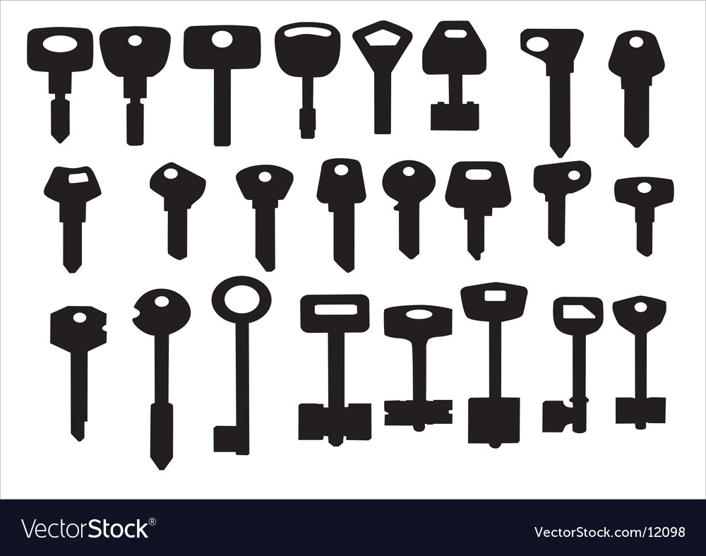 Keys for door and cars vector