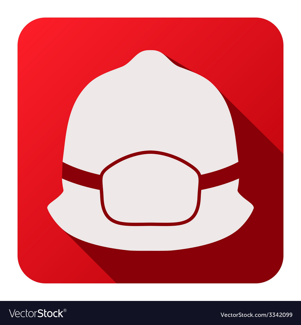 Flat icons of fireman helmet vector