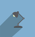 Table Lamp Flat Design Style Icon vector image