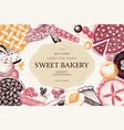 card design with vinatge baking vector image