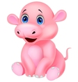 Cute baby hippo cartoon vector image vector image