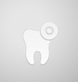 Zone inflammation on emblem tooth vector image vector image