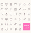 Medicine Outline Icons for web and mobile apps vector image